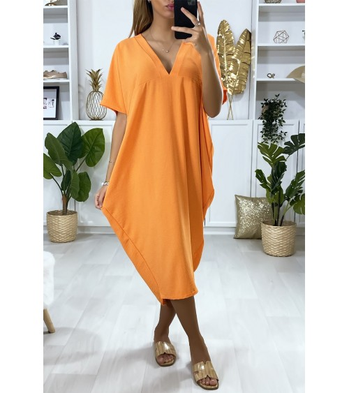 Robe orange longue et ample