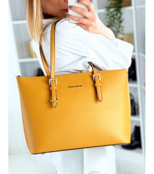 Sac cabas chic moutarde