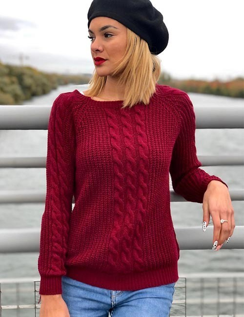 Pull torsade wiaam court bordeaux